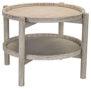 Modern Driftwood Finish Side Table, , large