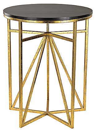 Modern Krone Geometric Accent Table, , large