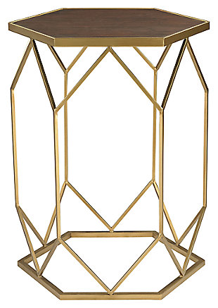 Modern Hexagon Frame Side Table, , large