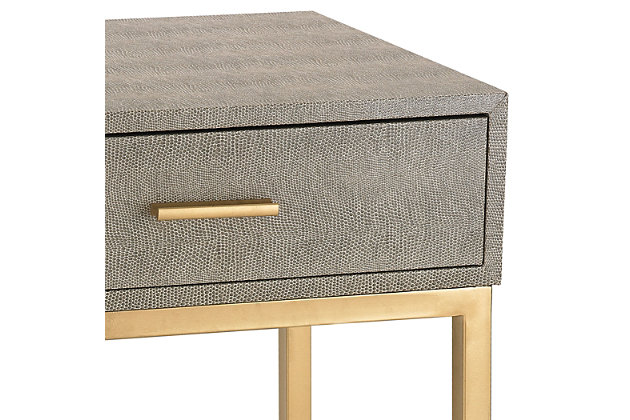 Modern Shagreen Side Table, , large