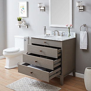 Farmhouse Frenna Farmhouse Vanity Sink with Marble Top, , large
