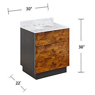 Modern-Contemporary Holly & Martin Betlow Marble Top Vanity Sink, , large