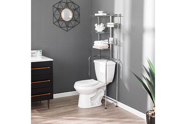 Over the toilet Mena Chrome Bath Organizer, , large
