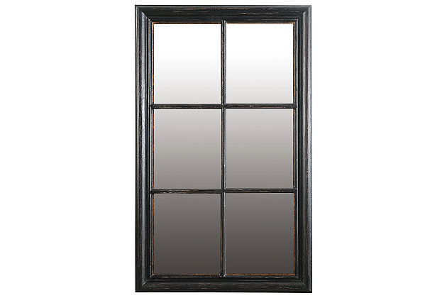 Home Accents Mirror, Antique Black, large