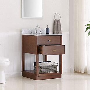 Italian Marble Corrine Italian Marble Bath Vanity Sink, , large