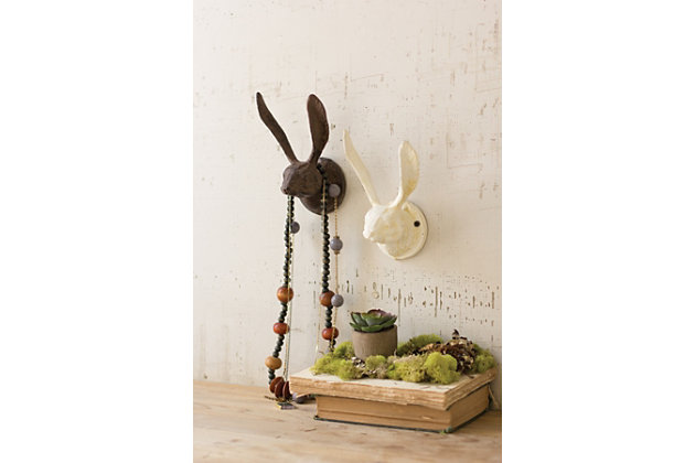 Decorative Cast Iron Rabbit Wall Hook - Rustic (Min 2), , large