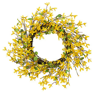 "Decorative 24"" Diameter Natural Twig Forsythia Wreath, , large"