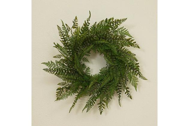 "Decorative 26"" Diameter Fern Wreath, , large"