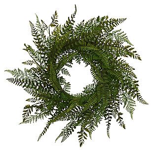 "Decorative 26"" Diameter Fern Wreath, , large"