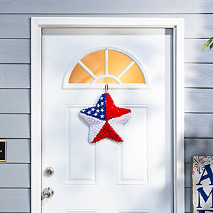 "Decorative 14"" Diameter Pom Pom American Star Wall Décor (Set of 2), , rollover"