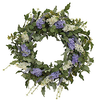 "Decorative 24"" Diameter Hyacinth and Lavender Twig Wreath, , large"