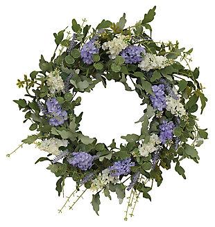 "Decorative 24"" Diameter Hyacinth and Lavender Twig Wreath, , large"