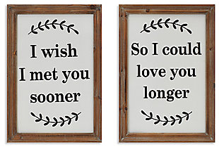 Decorative Assorted Wood and Metal Wall Décor (Set of 2), , large