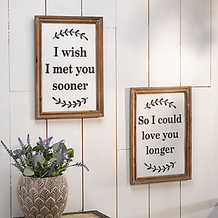 Decorative Assorted Wood and Metal Wall Decor (Set of 2), , rollover