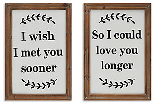 Decorative Assorted Wood and Metal Wall Decor (Set of 2), , large