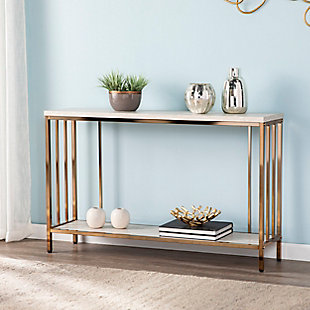 Home Accent Sentry Faux Marble Console Table, , rollover