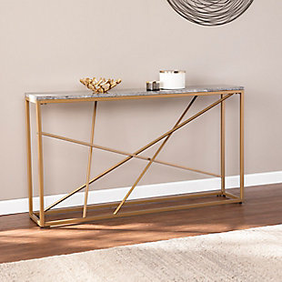 Home Accent Coulter Faux Stone Console Table, , rollover