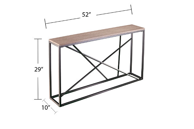 Home Accent Coulter Faux Marble Console Table, , large