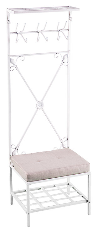 Home Accent Cinna Bench/Storage Rack, , large