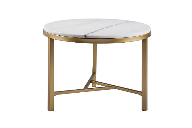 Home Accent Dennis Marble Accent Table, , large