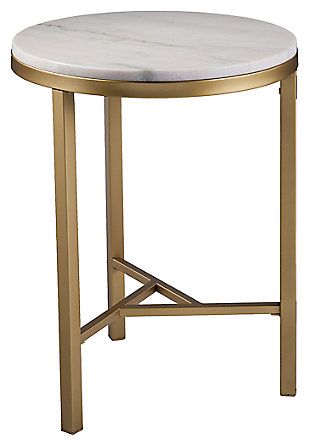 Home Accent Dennis Marble Side Table, , large