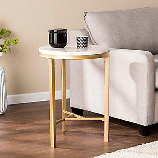 Home Accent Dennis Marble Side Table, , rollover