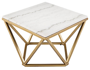 Home Accent Jacen Marble Accent Table, , large