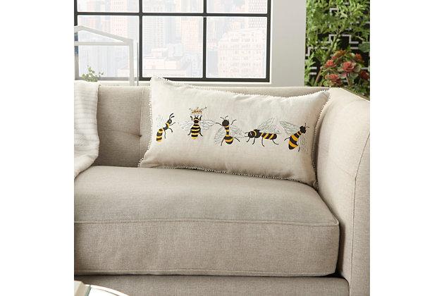 "Decorative Mina Victory Plushlines 12"" x 22"" Pillow, , large"