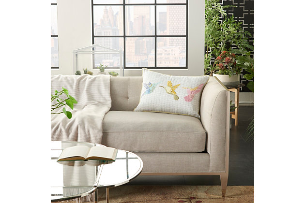 "Decorative Mina Victory Plushlines 14"" X 20"" Pillow, , large"