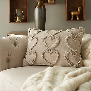 "Decorative Mina Victory Life Styles 14"" x 20"" Pillow, Gray, large"