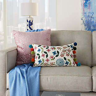 """Decorative Mina Victory Life Styles 12"""" x 20"""" Pillow, , rollover"""