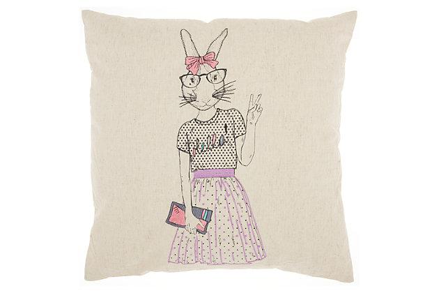 """Decorative Nourison Trendy 18"""" x 18"""" Pillow, , large"""