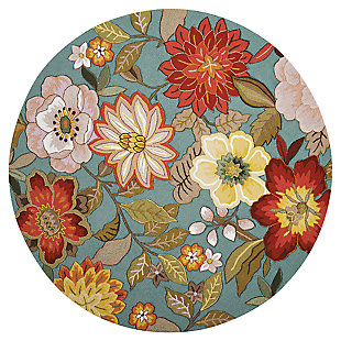 Decorative Nourison Fantasy 8' Round Rug, , large