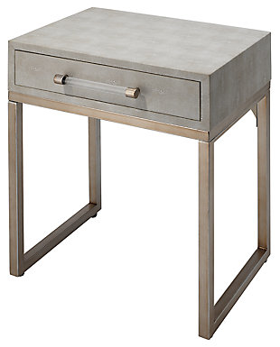 Home Accents Kain Side Table, White, rollover