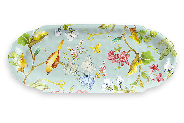 Melamine Spring Chinoiserie Appetizer Tray, , large