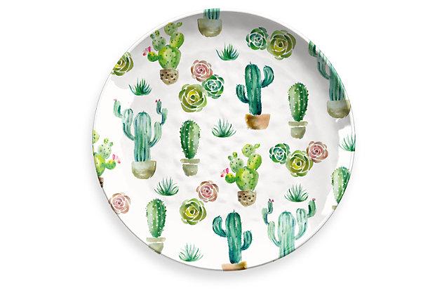 Melamine Desert Garden Round Platter, , large