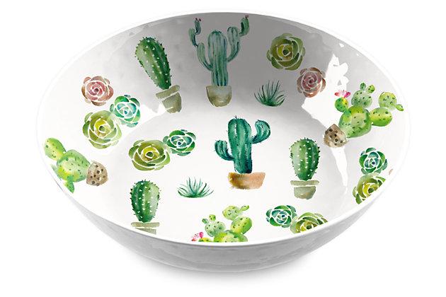 Melamine Desert Garden Serve Bowl, , large