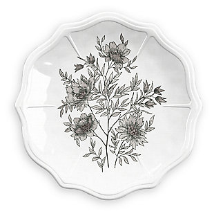 Melamine Farmhouse Botanical Appetizer Plate (Set of 6), , large