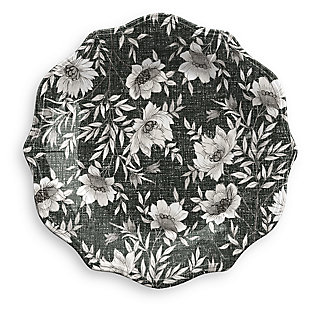 Melamine Farmhouse Botanical Salad Plate (Set of 6), , rollover