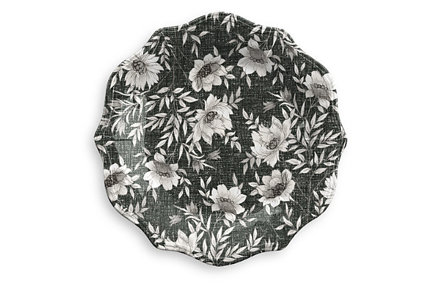 Melamine Farmhouse Botanical Salad Plate (Set of 6), , large