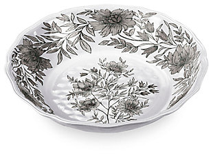 Melamine Farmhouse Botanical Serve Bowl, , large