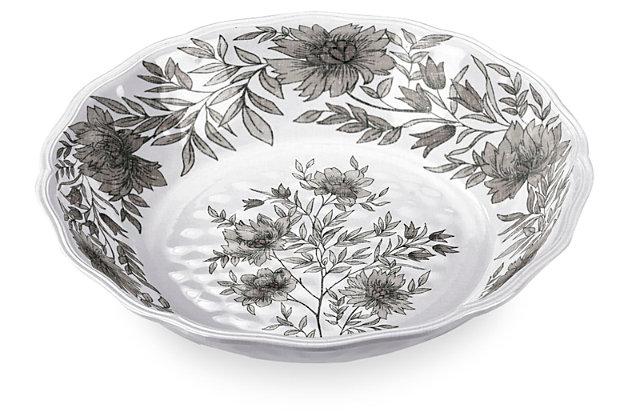 Melamine Farmhouse Botanical Serve Bowl, , large