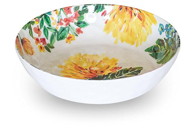 Melamine Garden Floral Bowl (Set of 6), , large