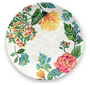 Melamine Garden Floral Dinner Plate (Set of 6)