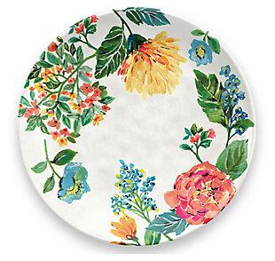 Melamine Garden Floral Dinner Plate (Set of 6), , large