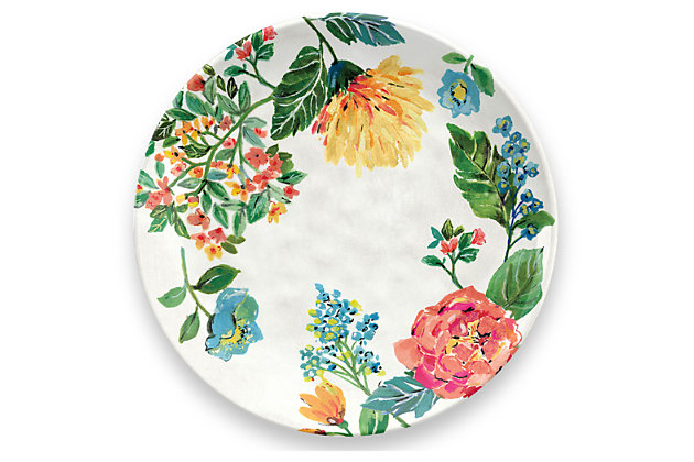 Melamine Garden Floral Dinner Plate (Set of 6), , large