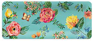 Melamine Garden Floral Rectangular Platter, , large
