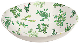 Melamine Garden Herbs Serve Bowl, , large
