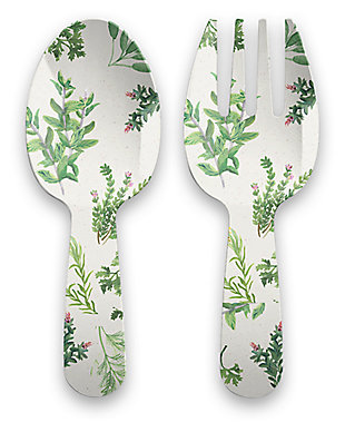 Melamine Garden Herbs Servers Set (Set of 2), , large