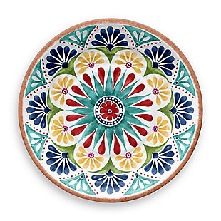 Melamine Rio Medallion Dinner Plate (Set of 6), , large